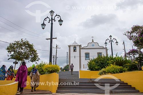 Igreja de São Miguel Arcanjo com a na Praça São Miguel Arcanjo  - Itacaré - Bahia (BA) - Brasil