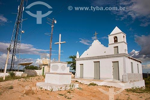 Igreja da Ermida e antenas no Morro do Mirante  - Floresta - Pernambuco (PE) - Brasil