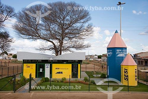 Biblioteca do SESI (Serviço Social da Indústria) - Indústria do Conhecimento  - Floresta - Pernambuco (PE) - Brasil
