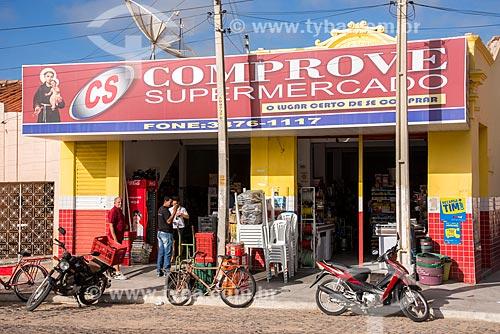 Supermercado no centro da cidade  - Belém de São Francisco - Pernambuco (PE) - Brasil