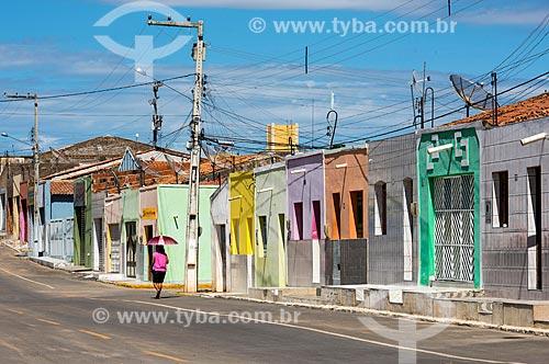 Casarios na cidade de Cedro  - Cedro - Pernambuco (PE) - Brasil