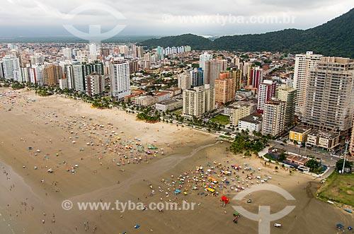Foto aérea da Praia do Canto do Forte  - Praia Grande - São Paulo (SP) - Brasil