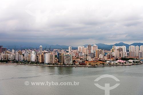Vista geral da cidade de Santos  - Santos - São Paulo (SP) - Brasil