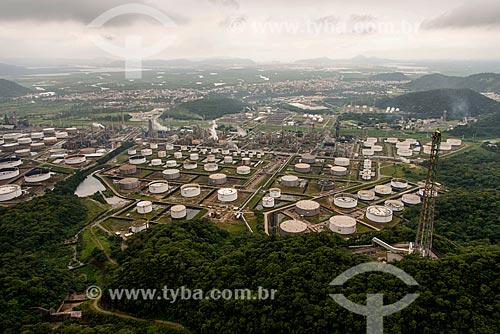 Foto aérea da Refinaria Presidente Bernardes  - Cubatão - São Paulo (SP) - Brasil