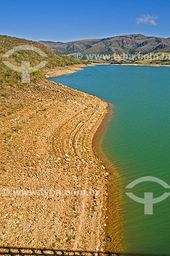 Margens visíveis na Represa de Furnas  - Pimenta - Minas Gerais (MG) - Brasil