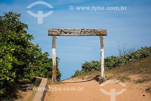 Entrada do Monumento Natural das Falésias de Beberibe  - Beberibe - Ceará (CE) - Brasil