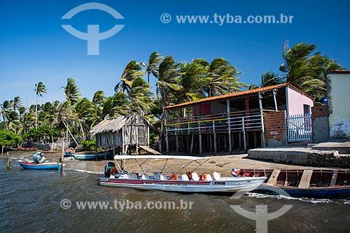 Barcos às margens do Rio Preguiças  - Barreirinhas - Maranhão (MA) - Brasil