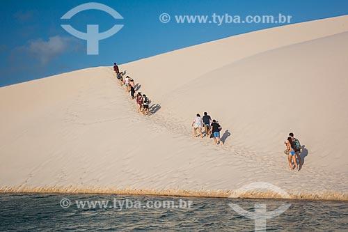 Turistas na Lagoa das Esmeraldas  - Barreirinhas - Maranhão (MA) - Brasil