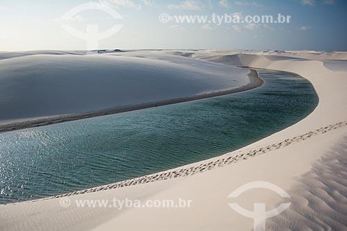 Vista geral da Lagoa das Esmeraldas  - Barreirinhas - Maranhão (MA) - Brasil