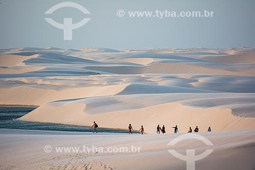 Lagoa do Clone no Parque Nacional dos Lençóis Maranhenses  - Barreirinhas - Maranhão (MA) - Brasil