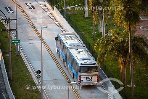 BRT Transcarioca na altura da Ilha do Fundão  - Rio de Janeiro - Rio de Janeiro (RJ) - Brasil