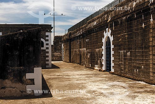 Interior do Forte de São Luís (1770) - também conhecido como Forte do Morro do Pico  - Niterói - Rio de Janeiro (RJ) - Brasil
