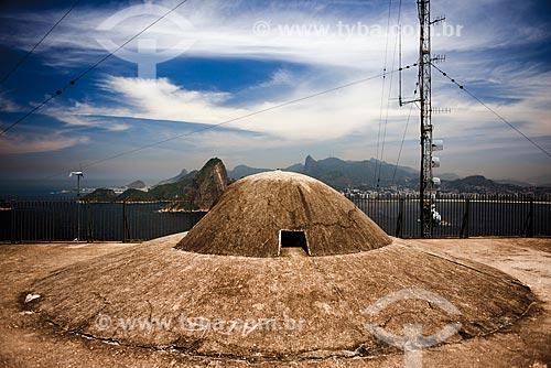 Canhão do Forte de São Luís (1770) - também conhecido como Forte do Morro do Pico  - Niterói - Rio de Janeiro (RJ) - Brasil