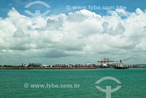 Vista geral do Complexo Portuário de Suape  - Ipojuca - Pernambuco (PE) - Brasil