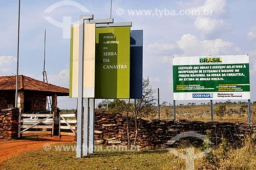 Portaria III do Parque Nacional da Serra da Canastra  - Sacramento - Minas Gerais (MG) - Brasil