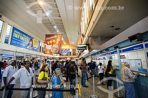 Bilheteria da Estação Ferroviária Central do Brasil  - Rio de Janeiro - Rio de Janeiro (RJ) - Brasil