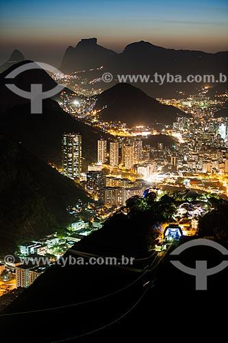 Vista do bairro de Botafogo durante à noite  - Rio de Janeiro - Rio de Janeiro (RJ) - Brasil