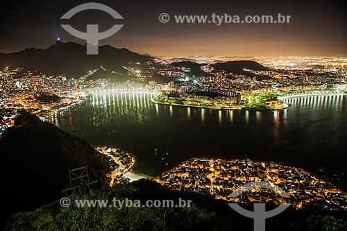 Vista geral do bairro da Urca com Aterro do Flamengo ao fundo  - Rio de Janeiro - Rio de Janeiro (RJ) - Brasil