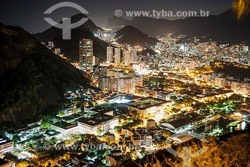 Vista dos bairros da Urca e Botafogo durante à noite  - Rio de Janeiro - Rio de Janeiro (RJ) - Brasil
