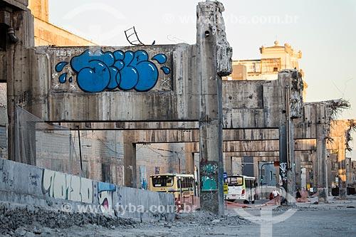 Trecho do Elevado da Perimetral após a implosão  - Rio de Janeiro - Rio de Janeiro (RJ) - Brasil