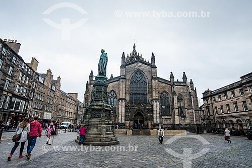Fachada da Saint Giles Cathedral (Catedral de Santo Egídio) - 1120  - Edimburgo - Edimburgo - Escócia