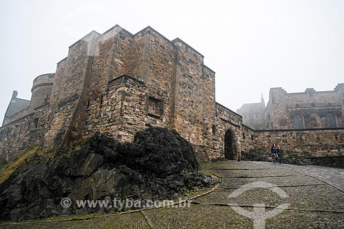 Entrada do Edinburgh Castle (Castelo de Edimburgo)  - Edimburgo - Edimburgo - Escócia