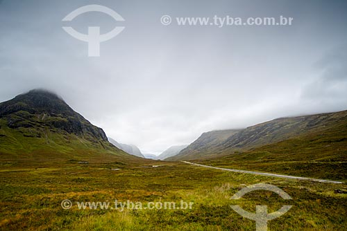 Paisagem da região de Glen coe  - Lochaber - Highland - Escócia