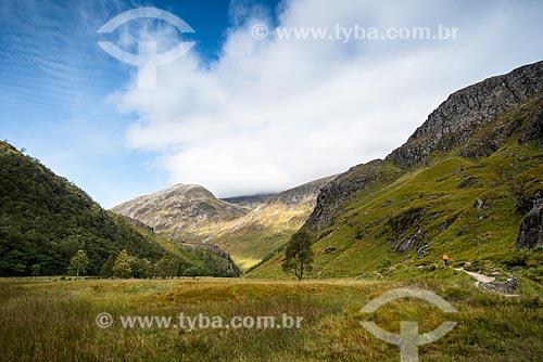 Paisagem durante a trilha em Fort William - próximo à região de Glen coe  - Fort William - Highland - Escócia