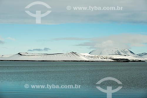 Vista do Lago Mývatn   - Northeastern Region - Islândia