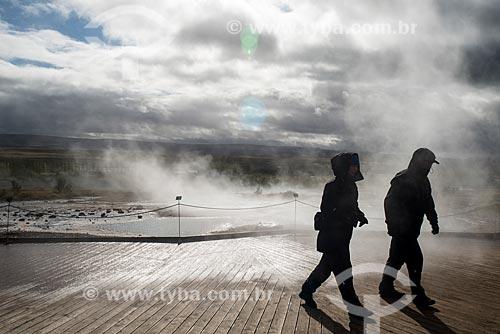 Vista de gêisers no Vale do Haukadalur  - Haukadalur - Southern Region - Islândia