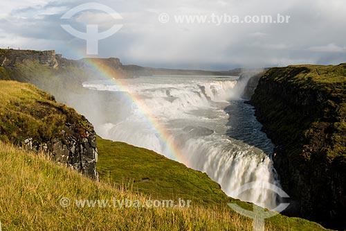 Queda dágua conhecida como Gullfoss no Vale do Haukadalur  - Haukadalur - Southern Region - Islândia