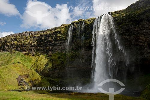 Queda dágua conhecida como Seljalandsfoss  - Southern Region - Islândia