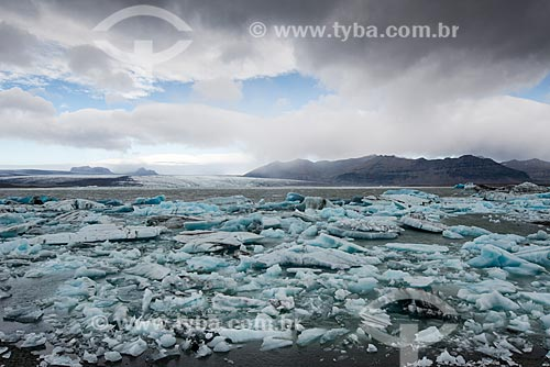 Lago do Glaciar Jökulsárlón no Parque Nacional Vatnajökull  - Austurland - Islândia