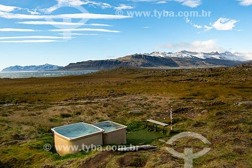 Águas termais no leste da Islândia  - Austurland - Islândia