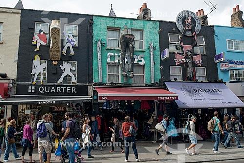 Lojas em Camden Town  - Londres - Grande Londres - Inglaterra