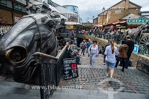 Rua comercial em Camden Town  - Londres - Grande Londres - Inglaterra