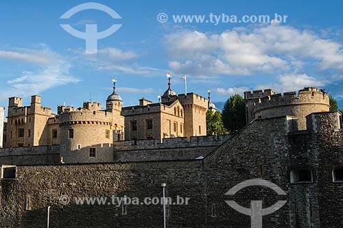 Torre de Londres (Século XI) - a primeira fortaleza européia, tendo diversos usos durante os séculos, de palácio real à prisão  - Londres - Grande Londres - Inglaterra