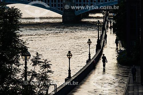 Orla do Rio Tâmisa  - Londres - Grande Londres - Inglaterra