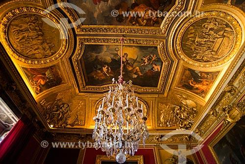 Interior do Château de Versailles (Palácio de Versalhes) - residência oficial da monarquia da Francesa entre os anos de 1682 a 1789  - Versalhes - Yvelines - França