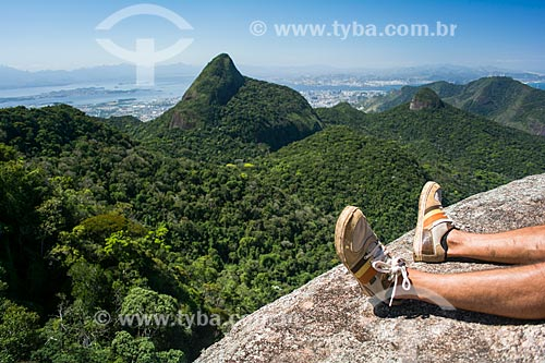 Vista durante a trilha do Bico do Papagaio  - Rio de Janeiro - Rio de Janeiro (RJ) - Brasil
