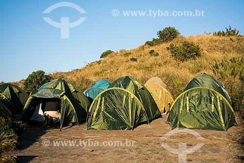 Área de camping no cume do Morro do Açu  - Petrópolis - Rio de Janeiro (RJ) - Brasil
