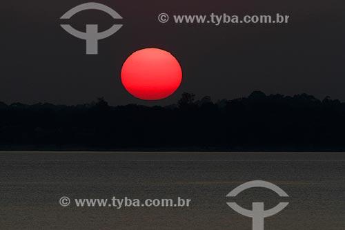 Pôr do sol no Rio Maués-Açu  - Maués - Amazonas (AM) - Brasil