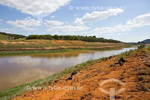 Margens da Represa Jaguari durante a crise de abastecimento no Sistema Cantareira  - Vargem - São Paulo (SP) - Brasil