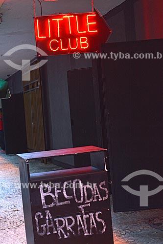 Entrada do Little Club no Beco das Garrafas - na Rua Duvivier próximo ao número 37, considerado berço do movimento da Bossa Nova no Rio de Janeiro  - Rio de Janeiro - Rio de Janeiro (RJ) - Brasil