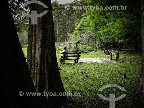 Homem no Parque Estadual Alberto Löfgren - também conhecido como Horto Florestal  - São Paulo - São Paulo (SP) - Brasil