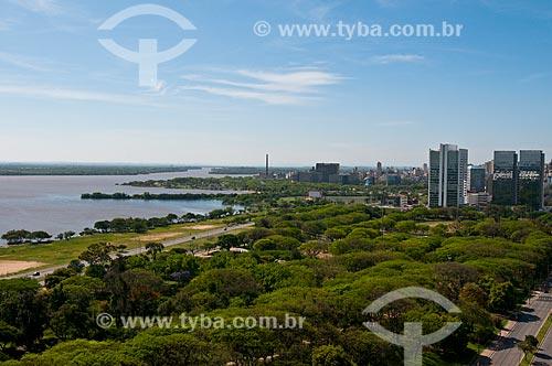 Vista geral do Parque Marinha do Brasil  - Porto Alegre - Rio Grande do Sul (RS) - Brasil