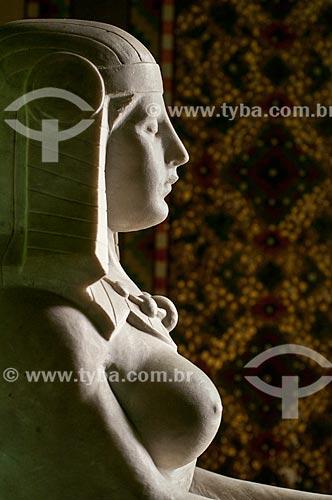 Esfinge no interior do Salão Egípcio da Biblioteca Pública do Estado do Rio Grande do Sul (1915)  - Porto Alegre - Rio Grande do Sul (RS) - Brasil
