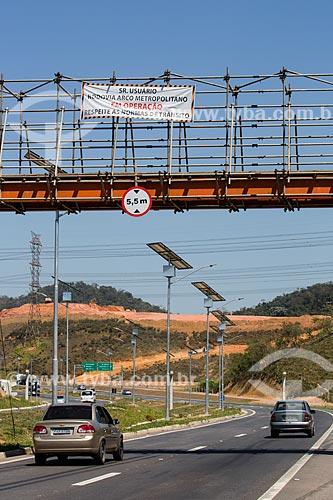 Passarela provisória sobre o Arco Metropolitano  - Japeri - Rio de Janeiro (RJ) - Brasil