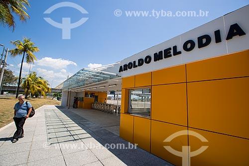Fachada da estação do BRT Transcarioca - Terminal Fundão/Aroldo Melodia  - Rio de Janeiro - Rio de Janeiro (RJ) - Brasil