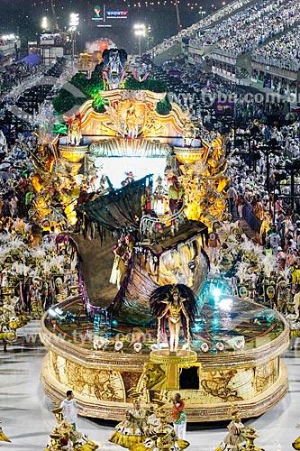 Desfile do Grêmio Recreativo Escola de Samba Acadêmicos do Grande Rio - Carro alegórico - Enredo 2014 - Verdes olhos de maysa sobre o mar, no caminho: Maricá  - Rio de Janeiro - Rio de Janeiro (RJ) - Brasil